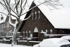 The Parish Hall in Snow